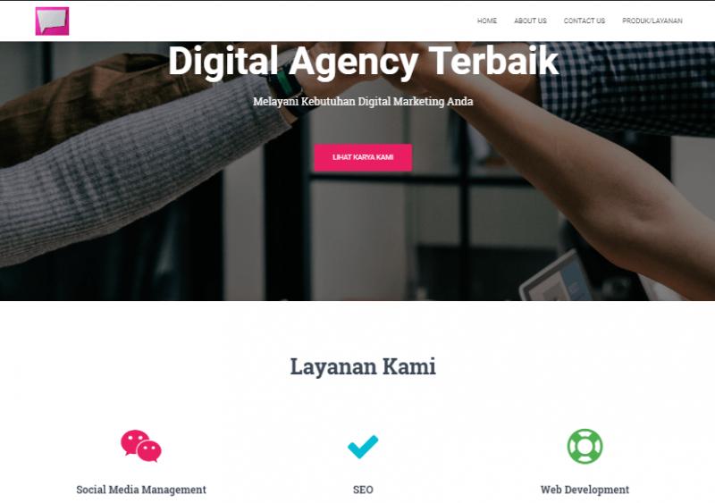 contoh website company profile terbaik